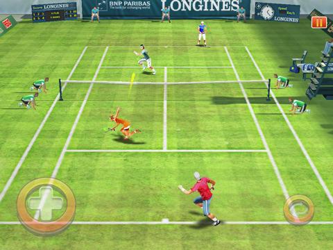 Il gioco del tennis su iPad