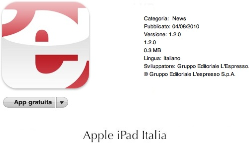 L'espresso arriva su iPad