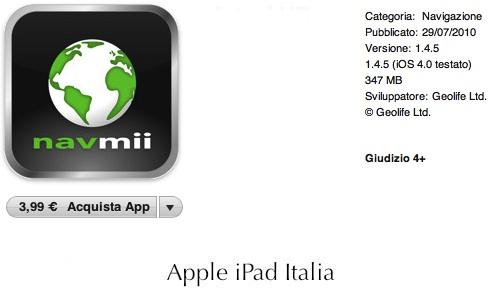 navigatore economico per iPad