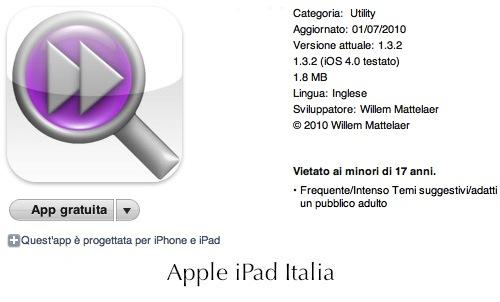 troviamo informazioni velocemente su iPad