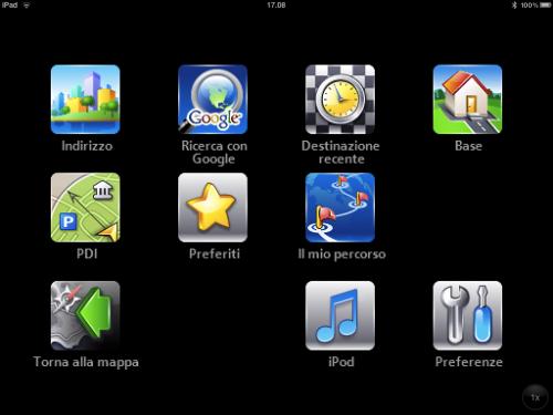 miiwii navigatore economico per iPad