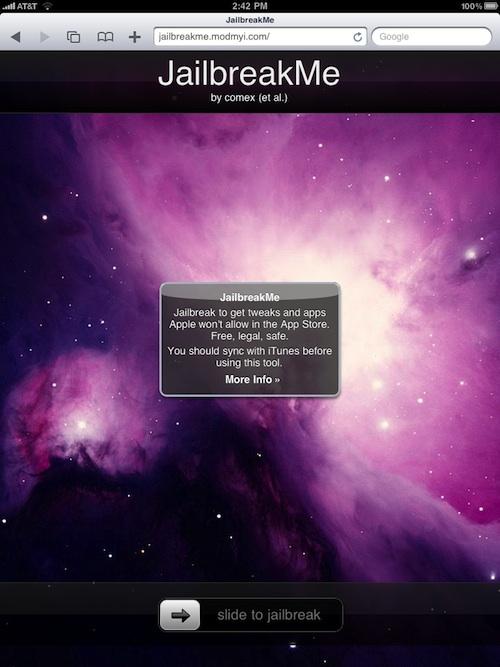 comex rilascia il suo sistema di sblocco per ipad