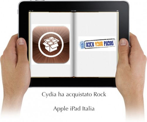 iPad Jailbreak cydia e rock si sono fuse
