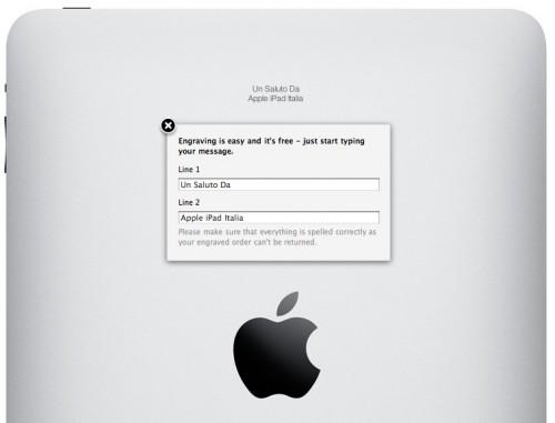 iPad inciso col laser