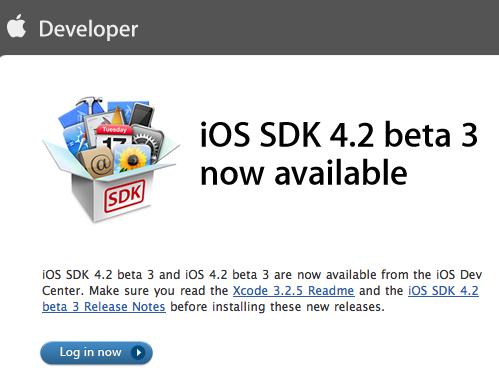 ios 4.2 beta3
