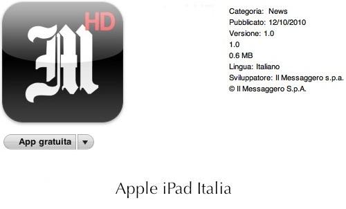 nuovo quotidiano su App Store