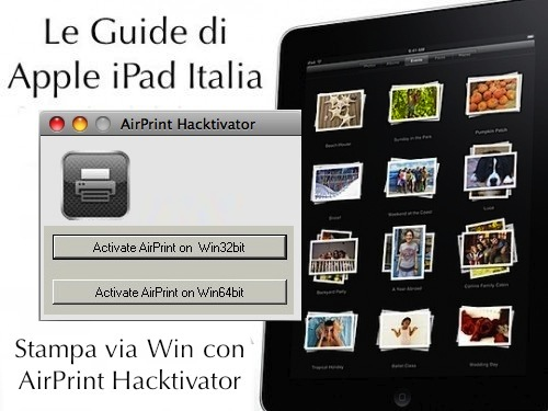 stampare con da ipad con windows