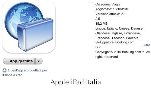 prenotre alberghi con iPad