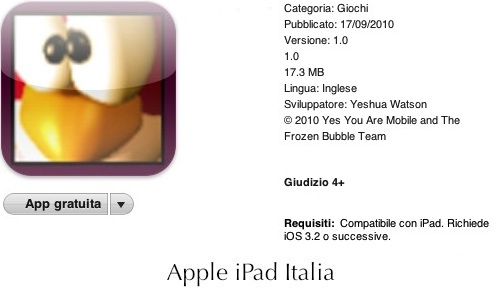 i pinguini di puzzle bubble su iPad
