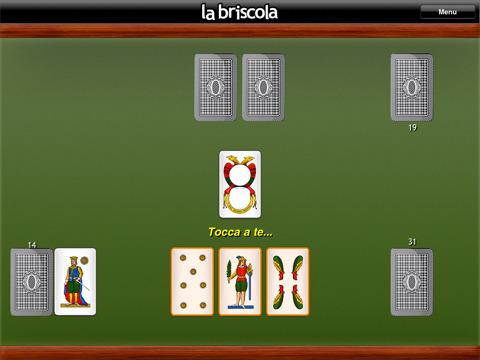 il gioco di carte briscola per ipad