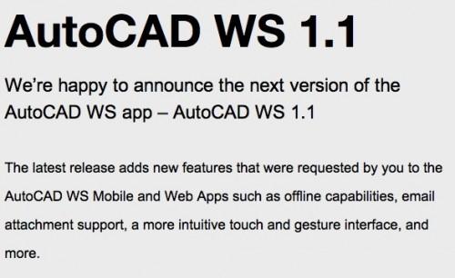 AutoCAD per iPad si aggiorna alla 1.1.