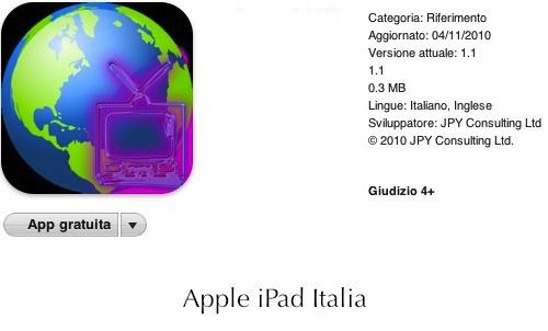 iPad cercare video con geolocalizzazione