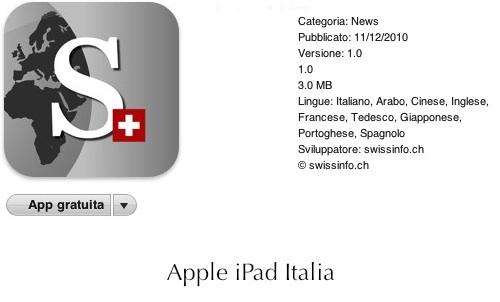Swissinfo.ch per ipad