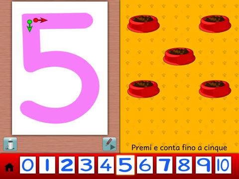 imparare a scrivere i numeri con ipad